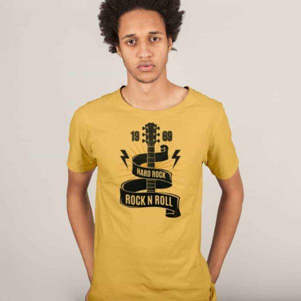 Yellow Printed Tshirt