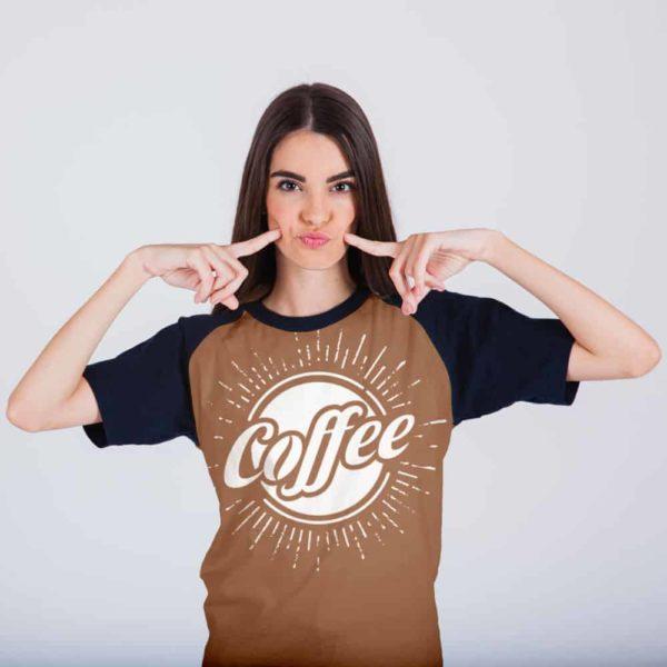Printed Tshirt Coffee Black Color