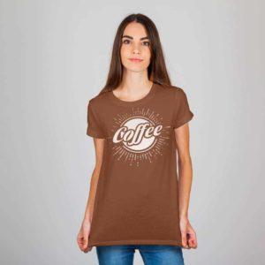 Printed Tshirt Coffee Color