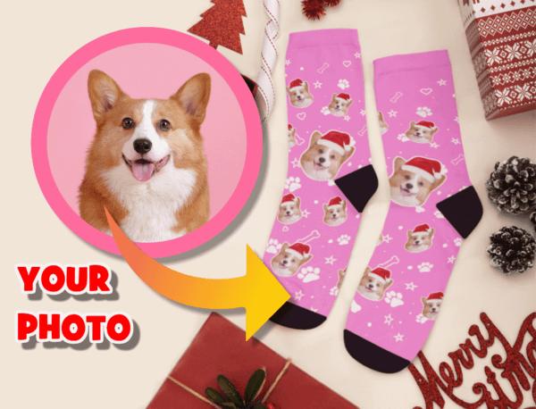 Custom Dog Face Personalized Socks