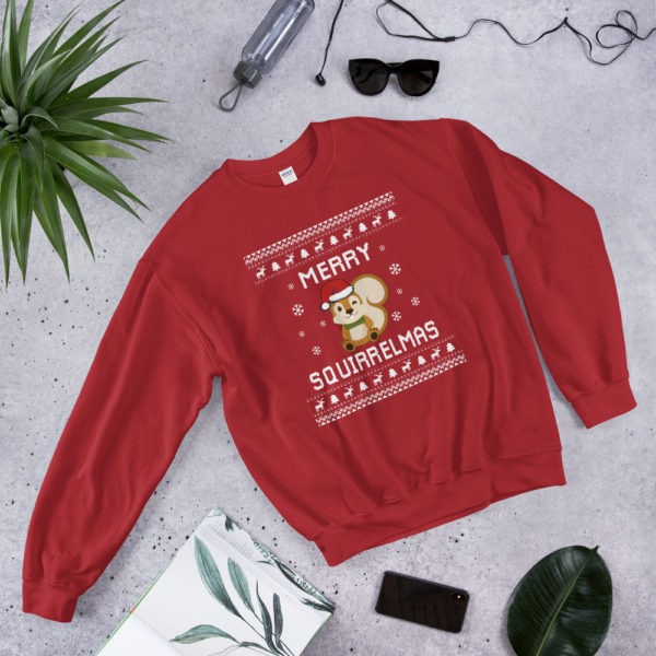 Red Unisex Squirrel Ugly Christmas Sweater