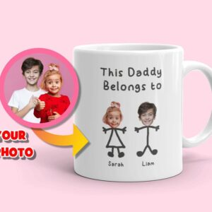 Custom Dad Mug This Daddy Belongs to Personalized Coffee Mug for Father's Day