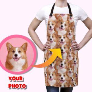 Custom Dog Photo on Personalized Apron