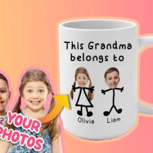 Custom Grandmother Mug This Grandma Belongs to Personalized Coffee Mug for Mother's Day