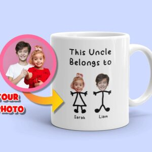 Custom Uncle Mug This Uncle Belongs to Personalized Coffee Mug for Uncle's Birthday